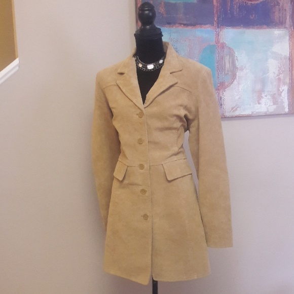 Style & Co Jackets & Blazers - Style & Co./ Tan/ Suede Coat